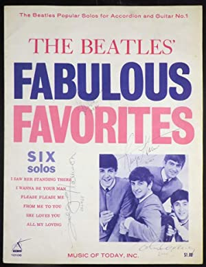 BEATLES' FABULOUS FAVORITES Six Solos [SIGNED BY ALL FOUR BEATLES]: Beatles The