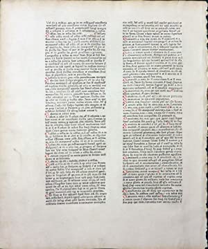 CATHOLICON] An Original Leaf From the Catholicon: Balbus Johannes