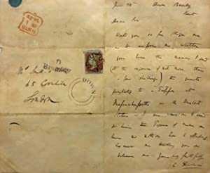 A FINE AUTOGRAPH LETTER, SIGNED, FROM CHARLES: Darwin Charles