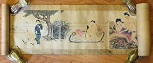 COLOURED WOODCUT ENGRAVINGS OF CHINESE EROTICA IN SCROLL FORMAT]: Chinese Erotica