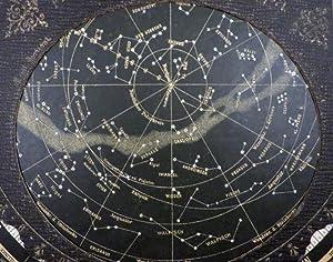 PLANISPHERE]; DER STERNENHIMMEL zu jeder Stunde des Jahres. Drehbare Sternenkarte. Ausgabe für...