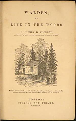 WALDEN, Or, Life In the Woods: Thoreau Henry David