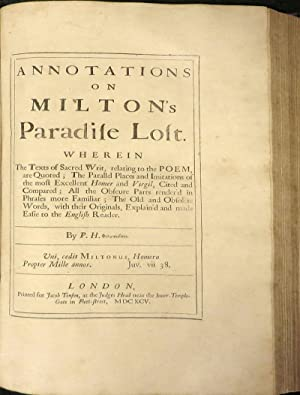 Paradise Lost by John Milton, First Edition - AbeBooks