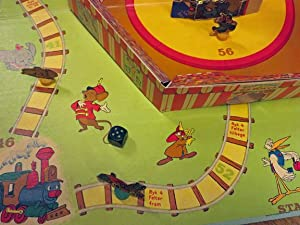 TOPPER TOY'S DUMBO SPILL: Pop-Up) Disney Board Game