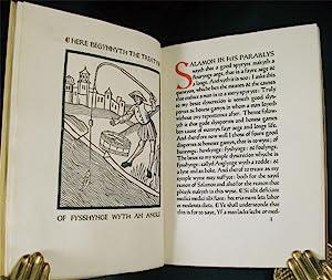 TREATYSE OF FYSSHYNGE WYTH AN ANGLE: Ashendene Press] Berners (Dame Juliana)