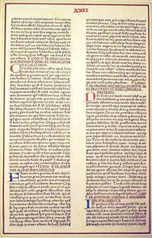 Single Leaf from Beavais' Speculum historiale]: Incunable Leaf] Beavais Vincent of