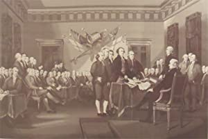 Signing of the Declaration of Independence [A masterpiece in original silk weaving taken from the ...