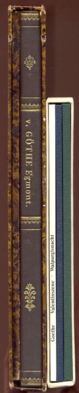 2 Faksimile-Drucke von Goethe-Texten:) I: Egmont. Ein: Goethe, Johann Wolfgang