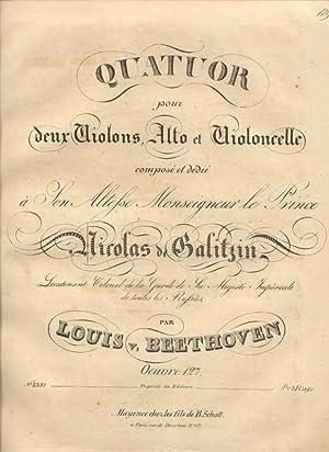 Quatuor pour deux Violons, Alto et Violoncelle: BEETHOVEN, Louis (Ludwig)