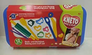 Kneto Bake and Play Knet- und Backset in Vorratsbox, 13-teilig - Feuchtmann Spielwaren 6219045 -