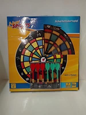 The Toy Company 563089 New Sports Sicherheitsdartspiel inklusive 6 Pfeilen