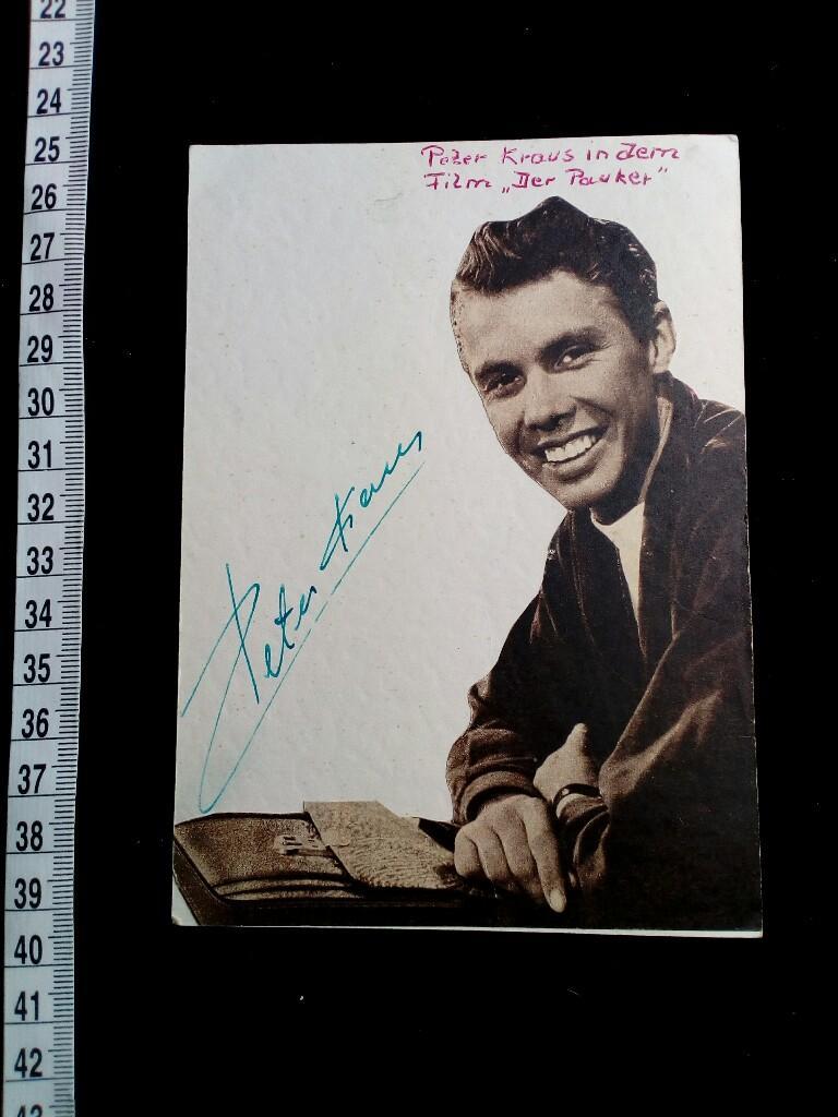 Conny Froboess Bilder autogramm auf postkarte mit montiertem foto