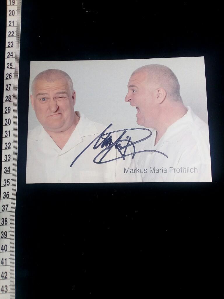 original signierte Autogrammkarte, original autograph with picture.: Profitlich, Markus Maria: