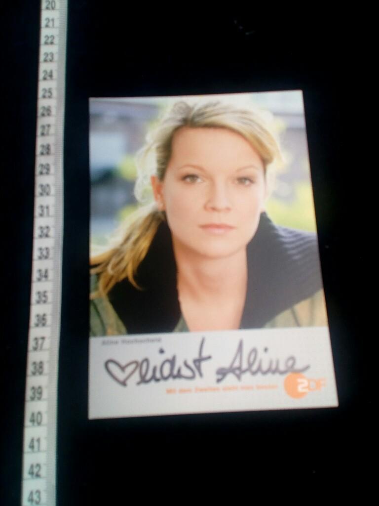 Aline Hochscheid handsignierte karte hand signed card