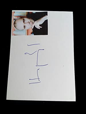 Signierte Postkarte 10x15cm mit Foto Handsigned postcard with a photograph of the author. Swiss a...