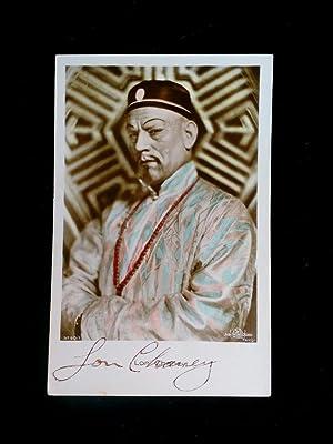 SEHR SELTENE hand signierte und handcolorierte Autogrammkarte: CHANEY sr., LON: