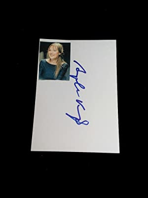 Signierte Postkarte mit montiertem Foto; original handsigned autograph card. German author. Deuts...