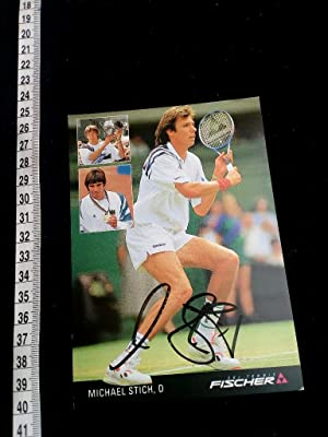 handsignierte Autogrammkarte; original handsigned autograph card. Famous german tennis player. Be...