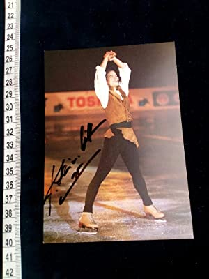 handsignierte Autogrammkarte; original handsigned autograph card. Witt won two Olympic gold medal...