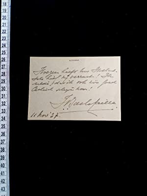 signierte Karte; original handsigned card. Dutch historian, compiled the first catalogue raisonné...