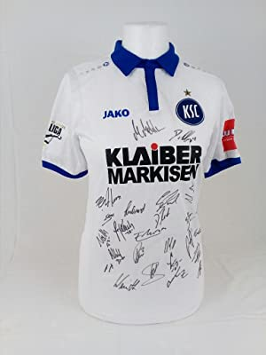 ORIGINAL Trikot Weiss Gr. S wie neu KADERSIGNIERT 2017/2018. Original squadsigned jersey of the f...