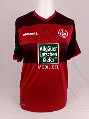 Original Trikot SIGNIERT VON FCK und KSC LEGENDE GUNTHER METZ. Original handsigned jersey of the ...
