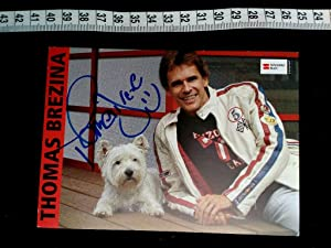 handsignierte Autogrammkarte. original hand signed autograph card with picture of the famous aust...
