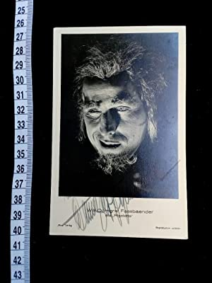 handsignierte Autogrammkarte als RIGOLETTO original hand signed autograph card with picture of th...
