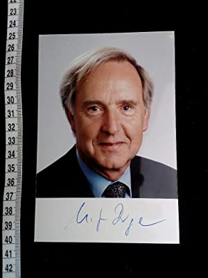 handsigniertes Foto. autographed original photo of the famous german politician.