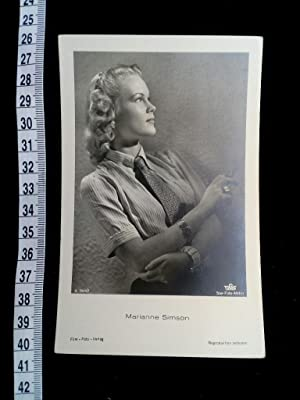 Original Foto-Postkarte. original picture postcard of the famous german movie and stage actress. ...