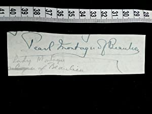 ORIGINAL Unterschrift auf einem Brief. Original signature of the famous british society lady and ...