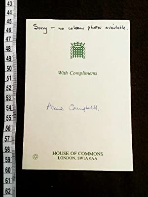 House of Commons card with signature. Original hand signierte Karte der britischen LABOUR Politik...