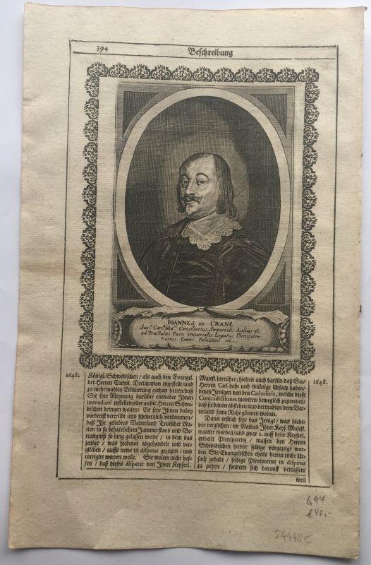 Johann Baptist Edler Herr von Crane (um 1600-1672), Reichshofrat in Wien u. Gesandter beim Westf&...