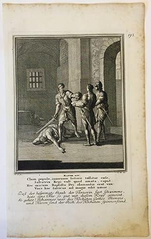 Matthäus 14 - Tod Johannes des Täufers.
