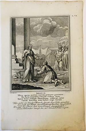 Johannes 9 - Heilung des Blinden. Kupferstich