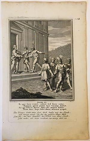 Matthäus 20 - Gleichnis vom Weinberg. Kupferstich
