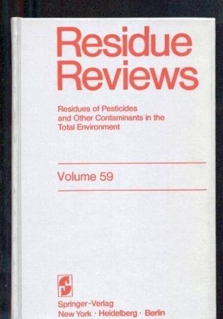 Volume 59 - Residue Reviews