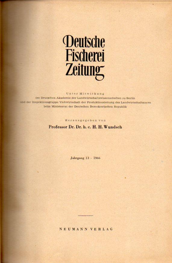 Jahrgang 13.1966: Deutsche Fischerei-Zeitung