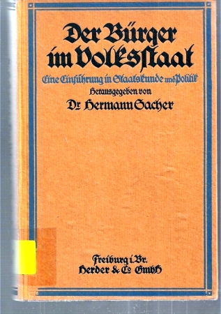Der Bürger im Volksstaat: Sacher,Hermann
