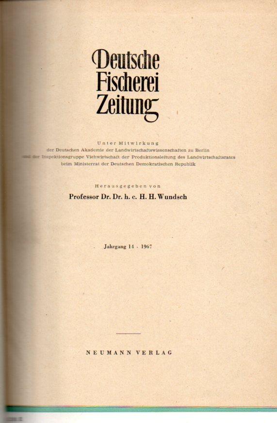 14.Jahrgang.1967 (Nr.1 bis 12): Deutsche Fischerei-Zeitung