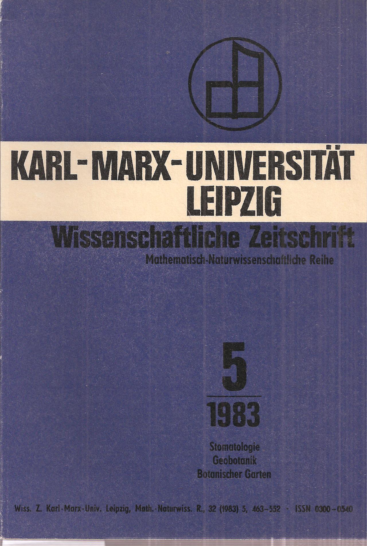 32.Jahrgang 1983, Heft 5: Karl-Marx-Universität Leipzig