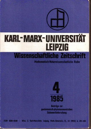 34.Jahrgang 1985, Heft 4: Karl-Marx-Universität Leipzig