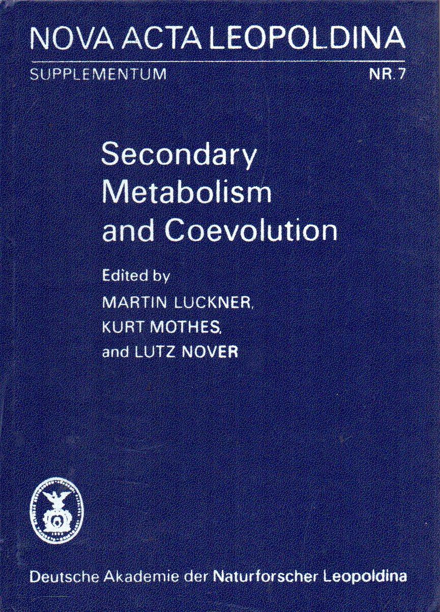 Secondary Metabolism and Coevolution, Cellular,intercelular and: Luckner,Martin+Kurt Mothes+Lutz Nover
