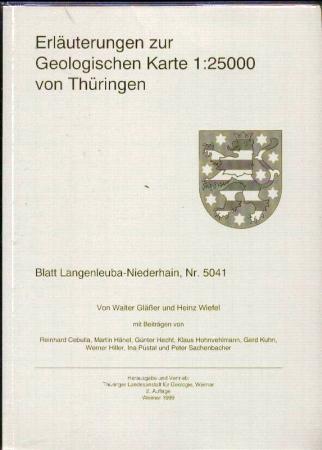 Geologische Karte Thüringen.Erläuterungen Zur Geologischen Karte 1 25000