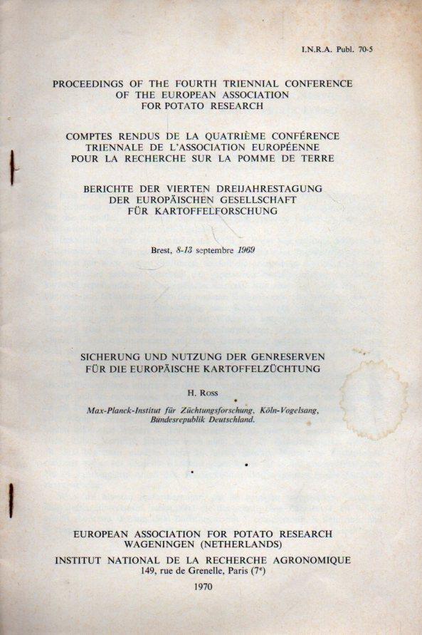 Sicherung und Nutzung der Genreserven für die: Ross,H.