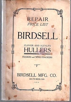 Repair Price List Birdsell Clover and Alfalfa: Birdsell Manufacturing Company