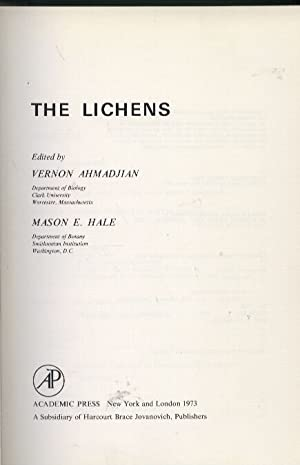 The Lichens: Ahmadjian,Vernon+Mason E.Hale