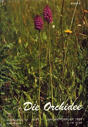 Die Orchidee 41.Jahrgang 1990 Heft 1 bis 6 (6 Hefte im Originalordner): Die Orchidee