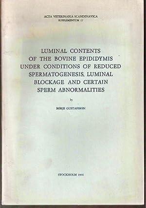 Luminal Contents of the Bovine Epididymis under: Gustafsson,Börje