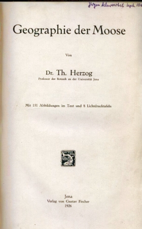 Geographie der Moose: Herzog,Th.